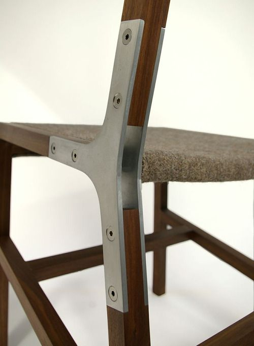aluminum joint on the1.2 chair designed by Trey Jones and Darin Montgomery for Urbancase