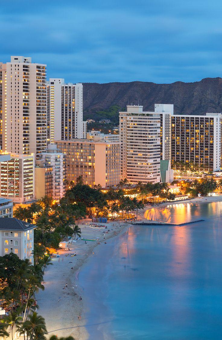 Honolulu city, Diamond Head and Waikiki Beach