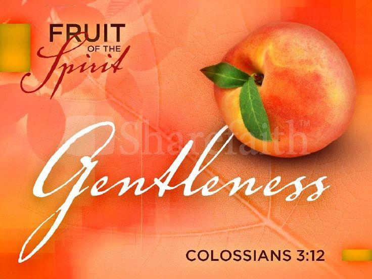 Gentleness Fruit Of The Spirit Powerpoint Template Pentecost Powerpoints Fruit Of The Spirit Fruit Holy Spirit