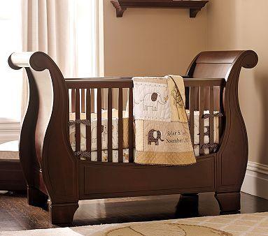 CribElephant Nursery, Sleigh Beds, Baby Elephant, Sleigh Cribs, Baby Room, Neutral Nurseries, Elephant Nurseries, Nurseries Ideas, Pottery Barns