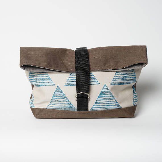 Project bag, Travel bag , Makeup bag, Cosmetic bag, Toiletries bag , Handprinted bag