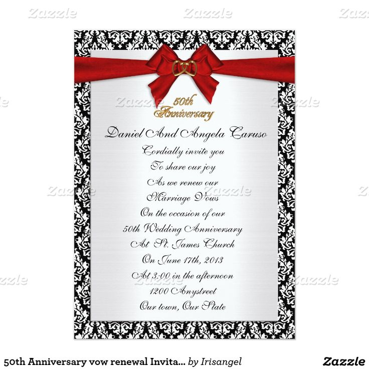 The 75 best 50th Anniversary vow renewal Invitations images on ...