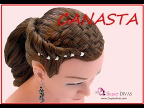 VIDEO Paso a paso de hermoso peinado con tejido de canasta y terminado en coleta.  VIDEO tutorial - Amazing basket weave hairdo created by 2Superdivas