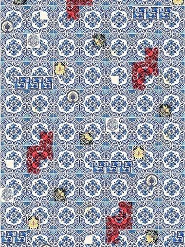 【ELLE DECOR】「クリスチャン ラクロワ メゾン フォー デザイナーズ ギルド」の壁紙|コバルトブルーで、初夏を満喫!|エル・オンライン
