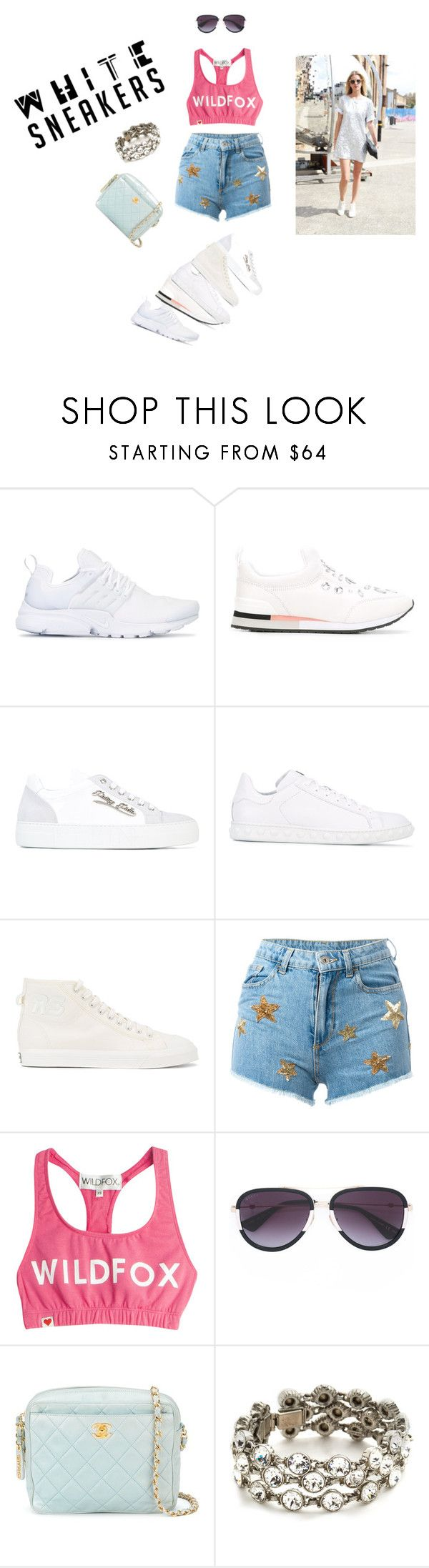 """""""White Sneakers..**"""" by yagna ❤ liked on Polyvore featuring NIKE, Tory Burch, Philipp Plein, Moncler, Raf Simons, Chiara Ferragni, Wildfox, Gucci, Chanel and Ben-Amun"""