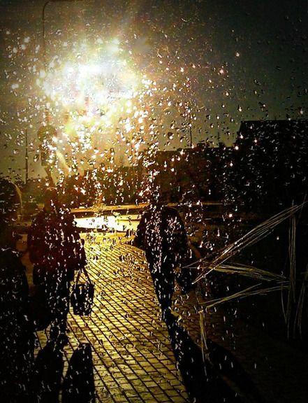Sun in drops of rain