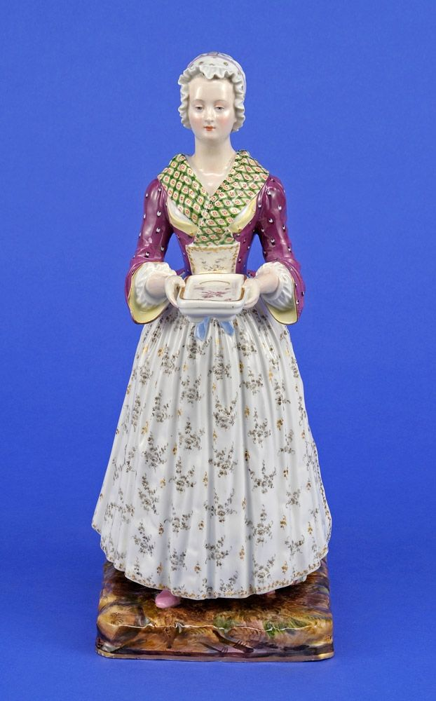 Meissen Porcelain Manufactory (Germany) — Chocolate Girl by Jean-Etienne Liotard, 19th century   (622×1000):