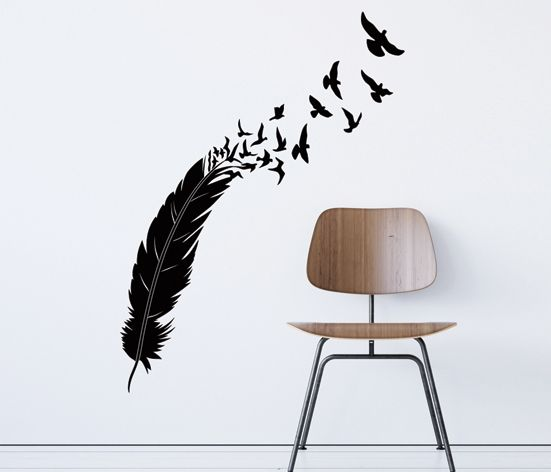 VÄGGDEKOR Fjäder