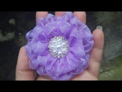 Flor de fita de organza