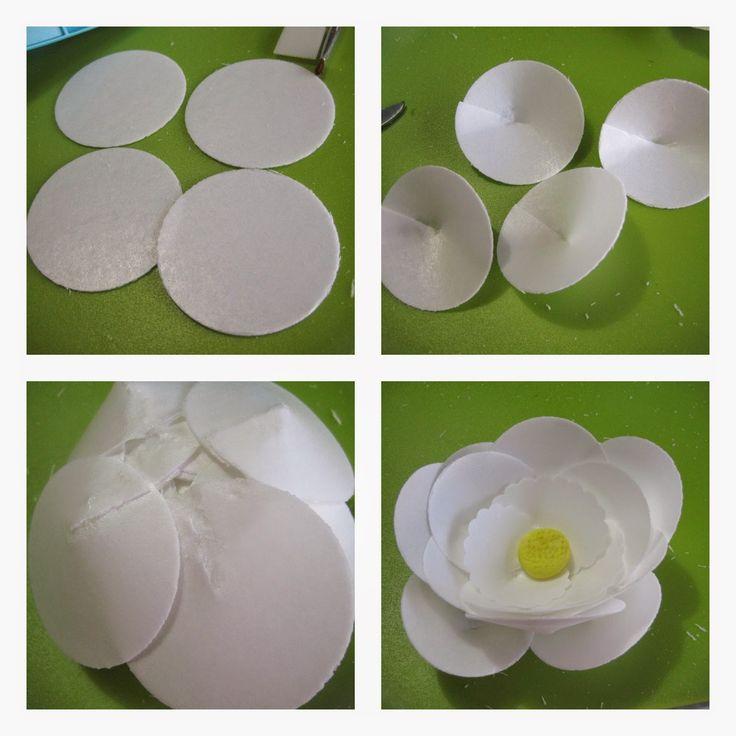 MIS RECETAS MÁS DULCES- tartas personalizadas y cursos de galletas decoradas y más : FLORES DE WAFER PAPER (OBLEA) TUTORIAL