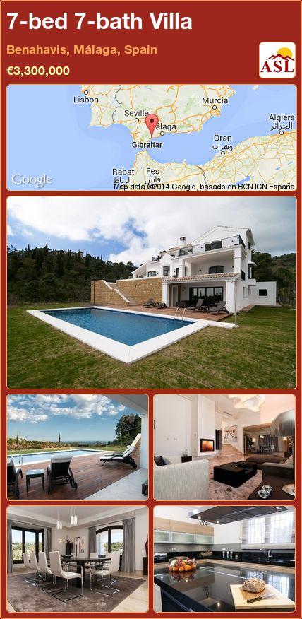 7-bed 7-bath Villa in Benahavis, Málaga, Spain ►€3,300,000 #PropertyForSaleInSpain