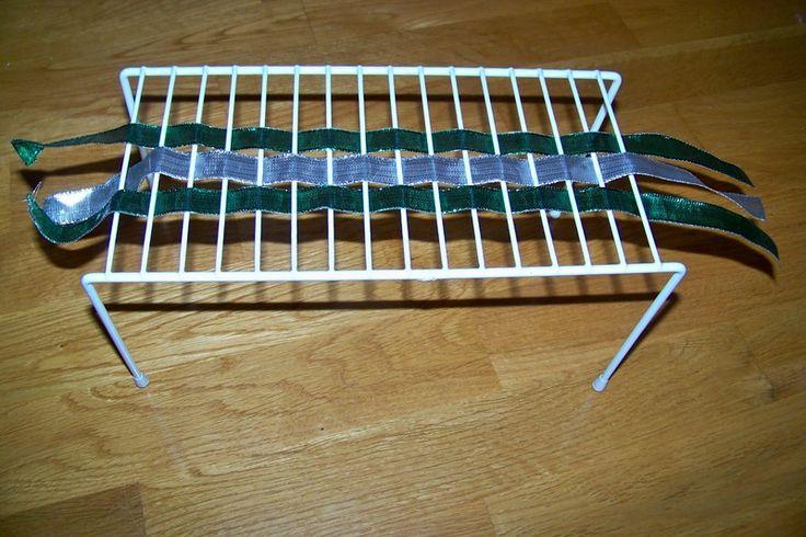 metal drying rack and ribbons for weavingFine Motor