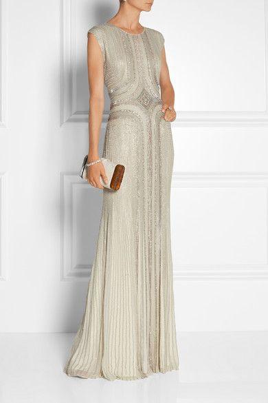 Jenny Packham | Embellished silk-chiffon gown | NET-A-PORTER.COM