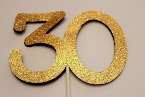 30th Birthday Cake topper 30 Cake topper by kriskropmemories