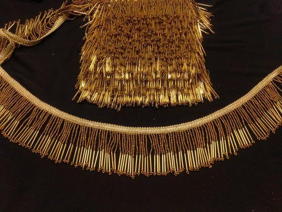 2.5 cm Width Fashion Gold Lace Trim Knitting Pattern 1 Yard