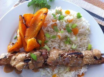 À porc egal: Brochettes de porc Satay
