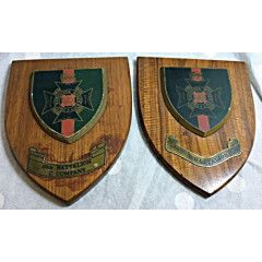 Very Rare, Vintage. Rhodesia Regiment Plaques. Brass, Wood & Resin. 18 cm x 15 cm