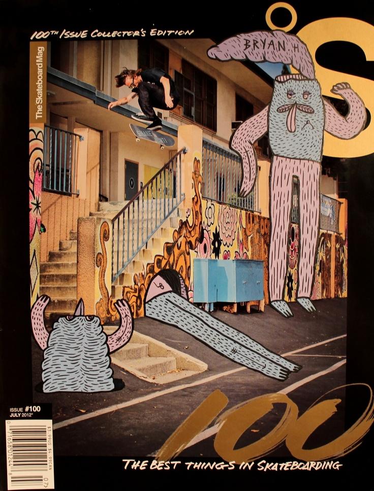 lucasbeaufort:    Skateboard mag X LB  Bryan Herman  Acrylic paint on cover