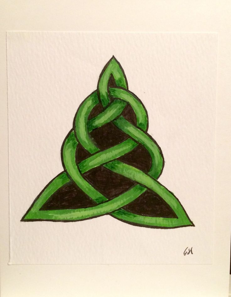 Christmas Card, Celtic Knot, Tree, Hand-painted original, Seasonal Holiday card by FHarrisArtShop on Etsy