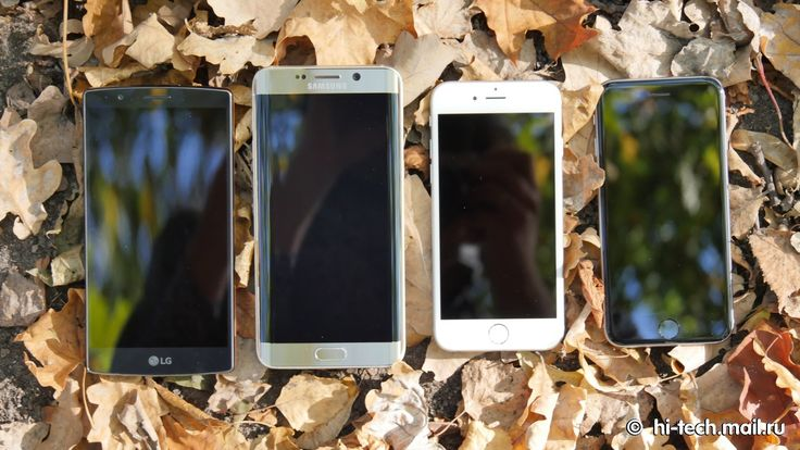 iphone 6s vs iphone 6 vs LG G4 vs Samsung Edge
