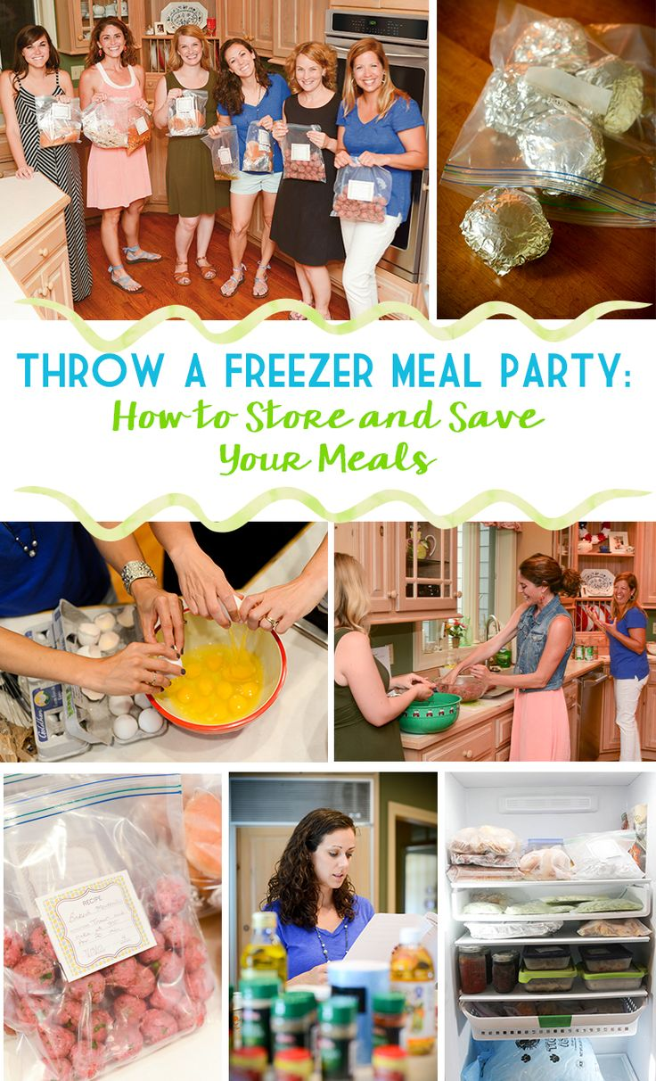 Throw a freezer meal party--how to store and save your meals. Great freezer storage tips!