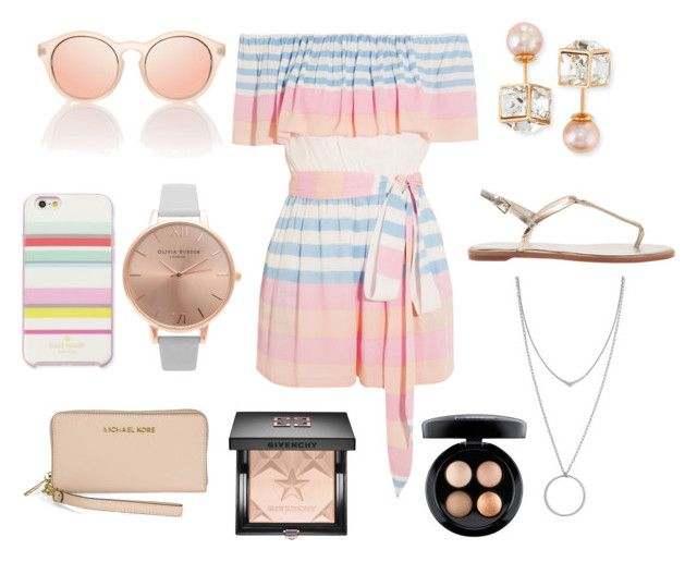 """Summer vibe"" by scout-fraser on Polyvore featuring Mara Hoffman, Michael Kors, Olivia Burton, Kate Spade, Le Specs, Vita Fede, Botkier, Givenchy and MAC Cosmetics"