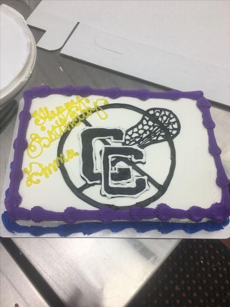 1/4 sheet lacrosse cc cake
