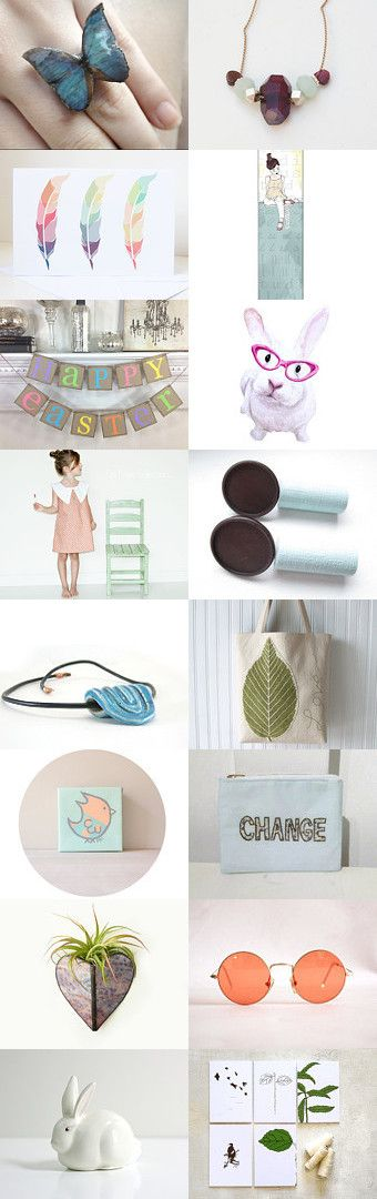 happy Easter! by agnès de juliis on Etsy--Pinned with TreasuryPin.com