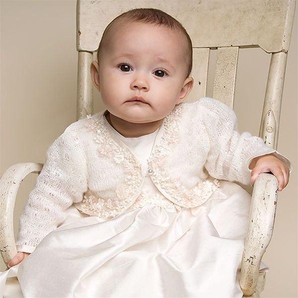 baby girl baptism dresses | Baby Girl Knit Sweater - Leila Christening/Baptism Collection ...