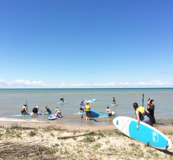 #SUP #surf #paddleboard #bluwave #rentals #kincardine #beach #summer #adventure #stationbeach #westshore
