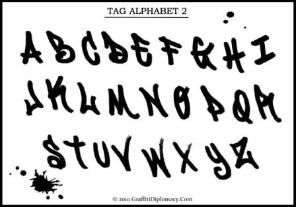 Tag Alphabet - Free Drawing Lesson