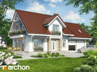 Dom w lantanach (G2) - Projekt domu jednorodzinnego z poddaszem z garażem dwustanowiskowym