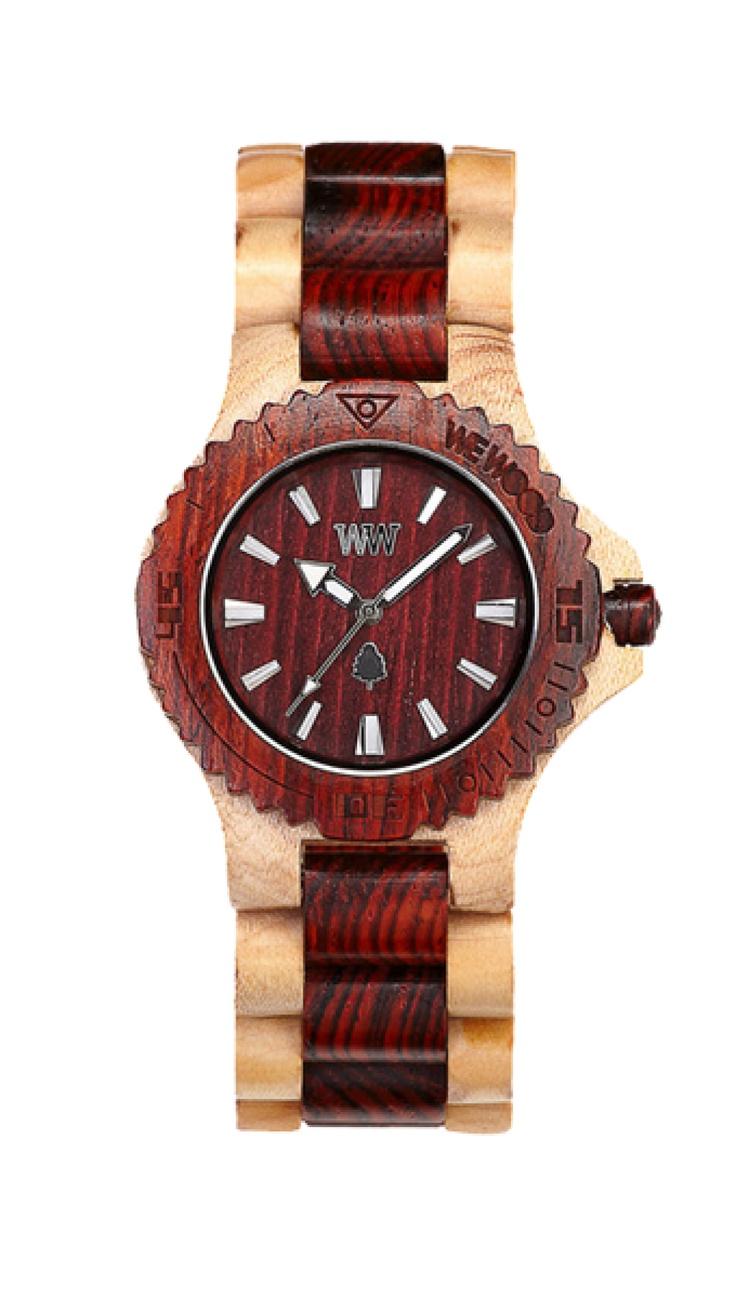 Spojení teplých odstínů barev na tomto zástupci řady DATE zahřeje u srdce i toho nejzatvrzelejšího ochránce přírody. Hnědý břestovec a béžový javor objímají v harmonickém sladění strojek Miyota, společný pro všechny hodinky WeWood.