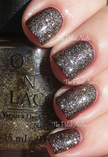 OPI Holiday 2013 Mariah Carey Holiday Collection: All Sparkly and Gold
