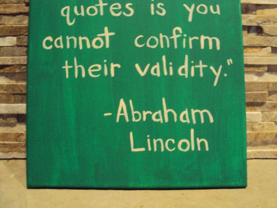 Sayings Wall Art Canvas : Funny quote canvas art abraham lincoln painted