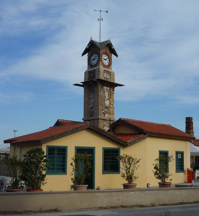 ClockTower at the port of LAVRIO, Greece