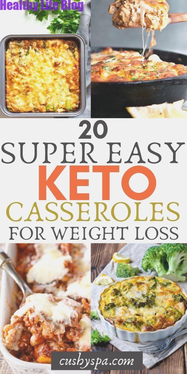 20 Super Easy Keto Aufläufe zum Abnehmen #WeightLossPlans # Casserole # …   – Weight Loss Plans