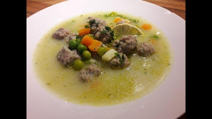 Tárkonyos húsgombóc leves / Szoky konyhája /