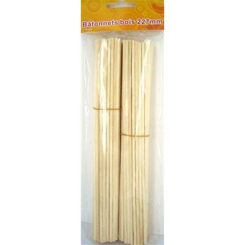 Sachet bâtonnets bois l227mm