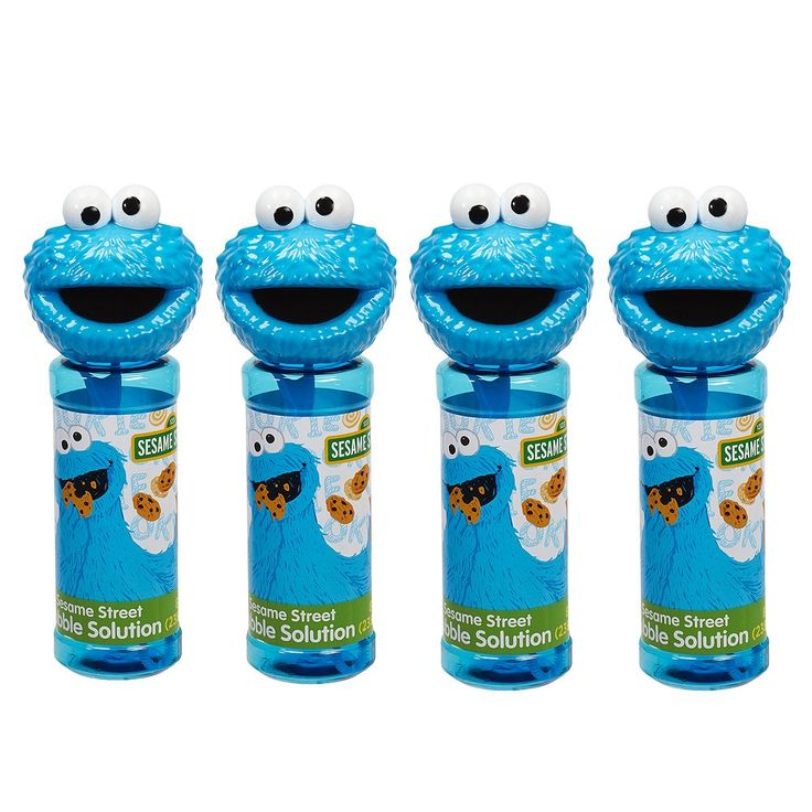 Sesame Street 4-pk. Cookie Monster Bubble Heads Bubble Pack by Little Kids, Yellow