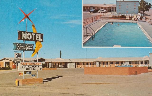 Motel Shawford - Santa Rosa, New Mexico    Highways 66-54-84 East  Interstate 40 Center Exit  Santa Rosa, New Mexico 88435