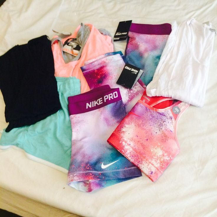 nike workout clothes | Nike Pro Shorts | Nike Pro Sport Bras | Fitness Apparel http://www.FitnessGirlApparel.com