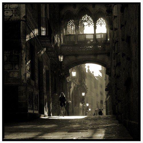 el barrio gotico, Barcelona