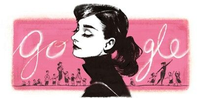 Gorgeous doodle for actress and humanitarian, Audrey Hepburn's 85th birthday!