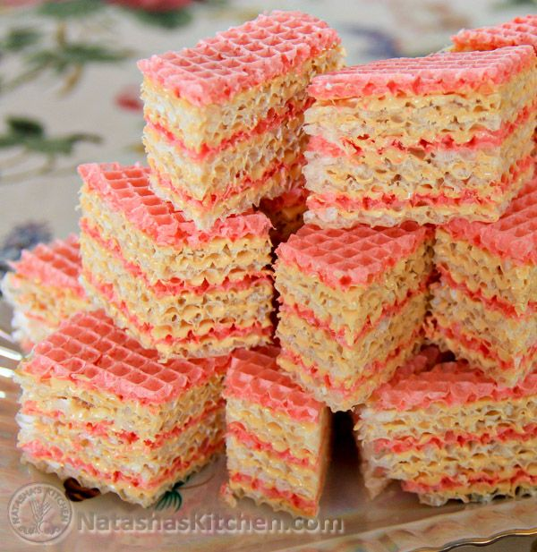 This Ukrainian waffle cake is a cinch! It's so easy, I bet you could make it simply by viewing the pictures. I just wish I could find a resource for the wafers online. Alas, I've only been able to find them at Russian or European...