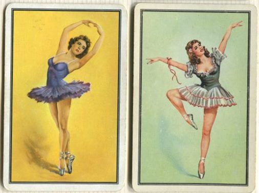 Swap Cards_ballet dancers on green, yellow