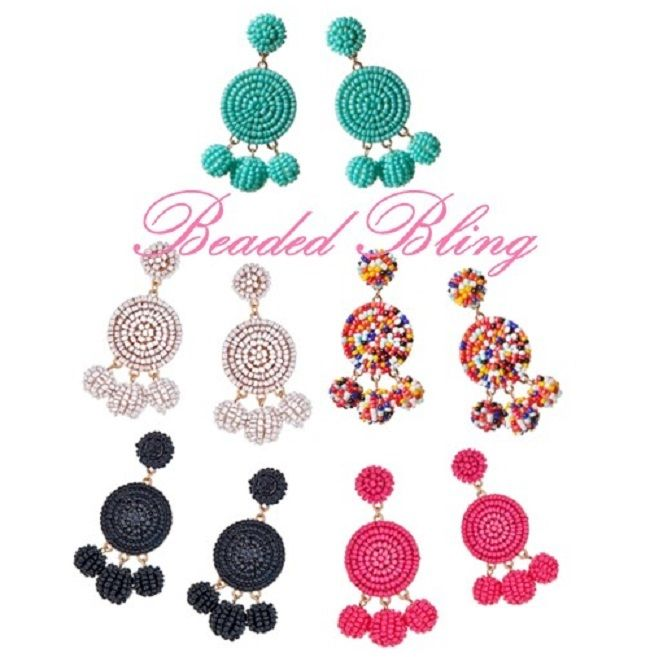 Looking for fabulously festive earrings to make your outfit pop? Our Nelly Beaded Earrings are just what you  need- stunning and chic.