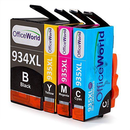 OfficeWorld 934XL 935XL Haut Rendement des Cartouches d'encre Compatibles pour HP Officejet Pro 6812 6815 6230 6830 6835 Imprimante (1-Noire, 1-Cyan, 1-Magenta, 1-Jaune) #OfficeWorld #Haut #Rendement #Cartouches #d'encre #Compatibles #pour #Officejet #Imprimante #Noire, #Cyan, #Magenta, #Jaune)