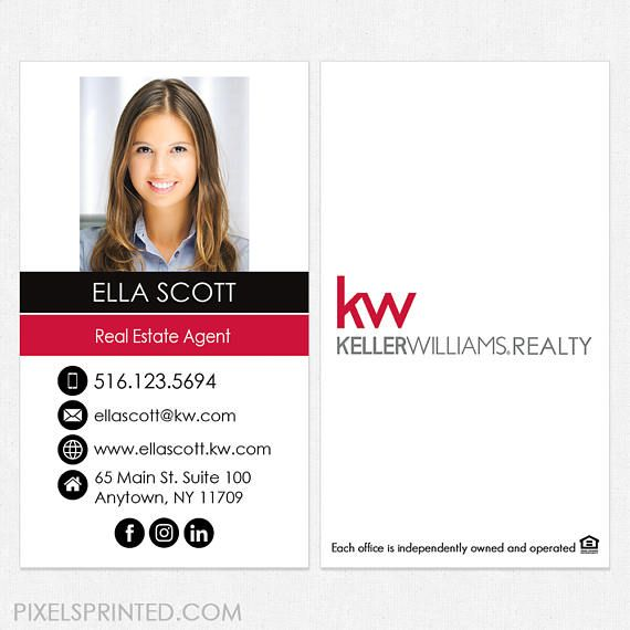 Keller Williams Real Estate Business Cards Thick Color Both