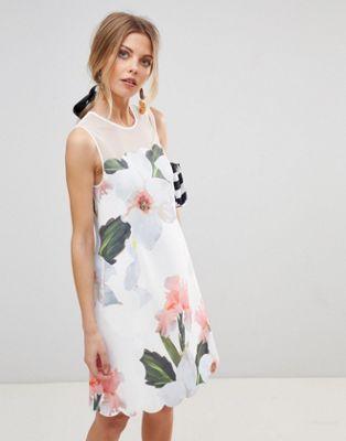 937cbe011 Ted Baker Caprila Mini Dress in Chatsworth Floral